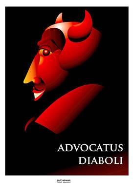 Advocate Mixed Media - Advocatus Diaboli by Richard Nodine