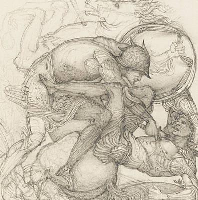 Aeneas Slaying Mezentius Print by Sir Edward Coley Burne-Jones