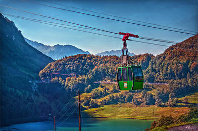 Brunni Photograph - Aerial Cableway by Hanny Heim