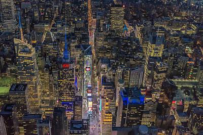 Aerial New York City 42nd Street Print by Susan Candelario