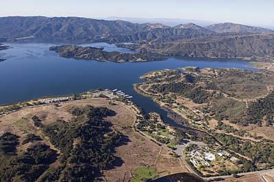 Casita Photograph - Aerial Of Full Lake Casitas Reservoir by Rich Reid