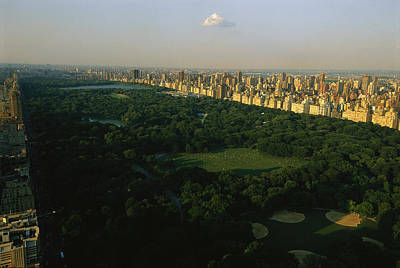 Aerial View Of Central Park, An Oasis Print by Melissa Farlow