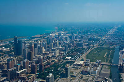 Aerial View Of Chicago, Illinois Print by Art Spectrum