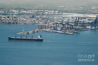 Panama Photograph - Aerial View Of Panama Industrial Port On The Atlantic Side. by Dani Prints and Images