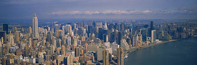 Empire State Photograph - Aerial View Of Skyscrapers On The by Panoramic Images