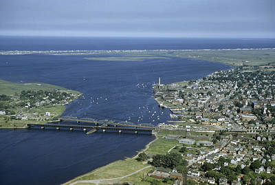 Photograph - Aerial View Of The Mouth Of Merrimack by Jack Fletcher
