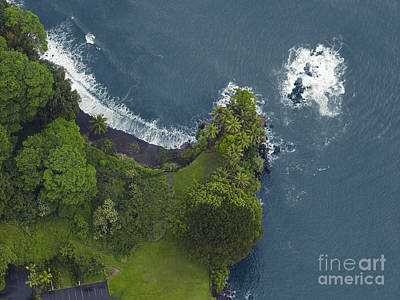 Nature Photograph - Aerial View Of The North Coast, Kauai, Hawaii by Dani Prints and Images