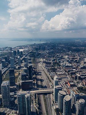 Toronto Photograph - Aerial View Of Toronto by Thomas Richter