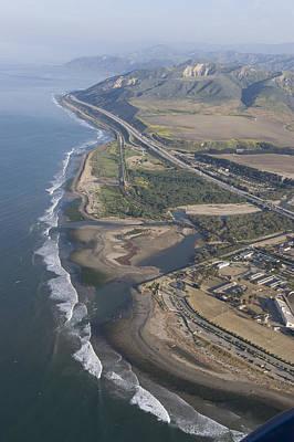 Aerial View Of Ventura Point, Ventura Print by Rich Reid