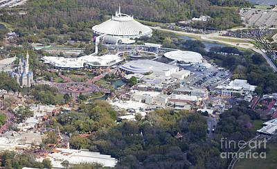 Aeriel View Photograph - Aerial View Of Walt Disney World's Magic Kingdom by Anthony Totah