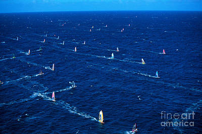 Aerial View Of Windsurfer Print by Erik Aeder - Printscapes