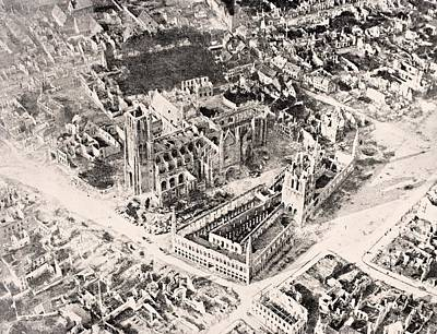Aerial View Of Ypres In 1915 After Print by Vintage Design Pics