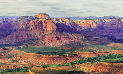 Mount Kinesava Photograph - Aerial View Of Zion Canyon by Loree Johnson