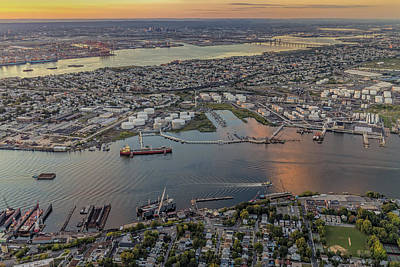 River Photograph - Aerial View Port Of Ny And Nj L by Susan Candelario