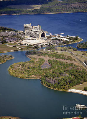 Aeriel View Photograph - Aeriel View Of Disneys Contemporary Resort by Anthony Totah