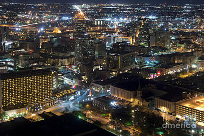 Aeriel View Photograph - Aeriel View Of San Antonio Texas by Anthony Totah