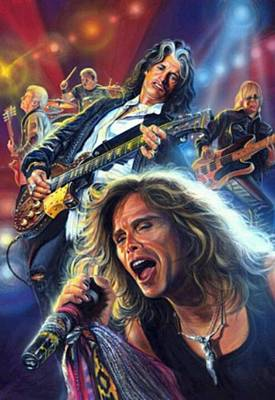 Steven Tyler Painting - Aerosmith by Blackwater Studio