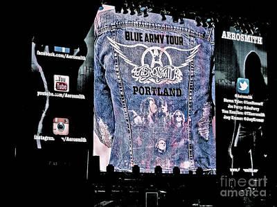 Aerosmith Digital Art - Aerosmith Blue Army Tour Portland by Tanya Filichkin
