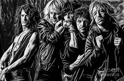 Steven Tyler Mixed Media - Aerosmith Collection by Marvin Blaine