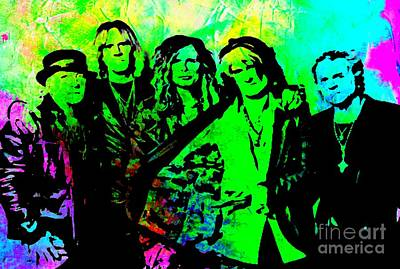 Aerosmith Digital Art - Aerosmith by John Malone