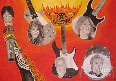 Aerosmith Painting - Aerosmith Painting by Jeepee Aero