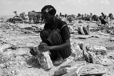 Camel Photograph - Afar Man, Danakil Depression by Aidan Moran