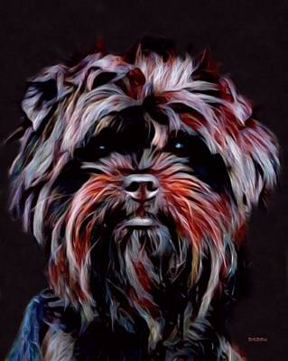 Affenpinscher Digital Art - Affenpinscher Painting by Scott Wallace