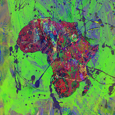 Racism Mixed Media - Africa 12b by Brian Reaves
