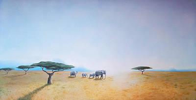 Daniel Wall Painting - Africa by Daniel Wall