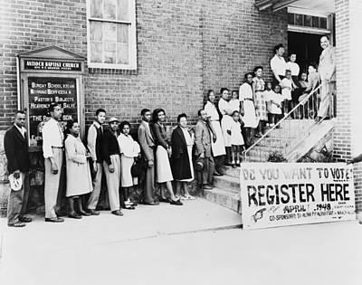 Discrimination Photograph - African American Men And Women Wait by Everett