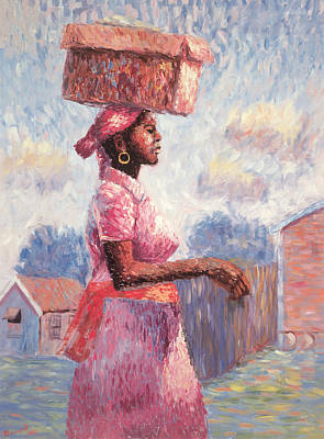 African-american Painting - African Lady by Carlton Murrell