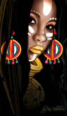 African Princess Print by Kia Kelliebrew