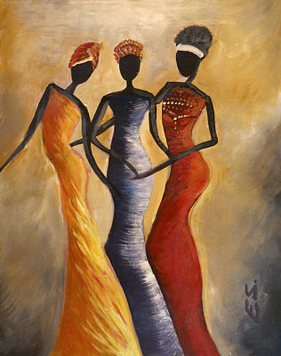 African Woman Painting - African Queens by Evon Du Toit