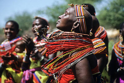 Beadwork Photograph - African Rhythm by Michele Burgess