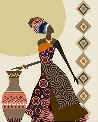 Afrocentric Chic IIi Print by Lanre Studio