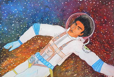 Watercolor Painting - Afronaut by Ana Christian