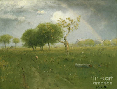 Storm Clouds Painting - After A Summer Shower by George Inness