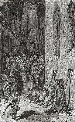 After A Work By Gustave Dore For Balzac Print by Vintage Design Pics