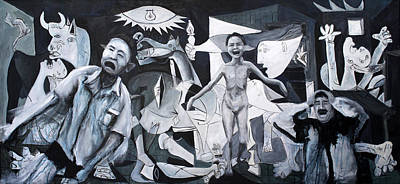 Iraq War Painting - After Guernica by Michelle Barone