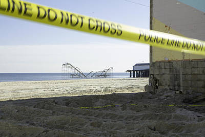 Roller Coaster Photograph - After Hurricane Sandy by Erin Cadigan