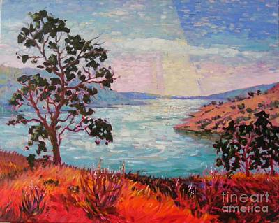 Early California Landscape Painting - After Sunrise by Celine  K Yong