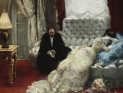 Distraught Painting - After The Ball by Henri Gervex