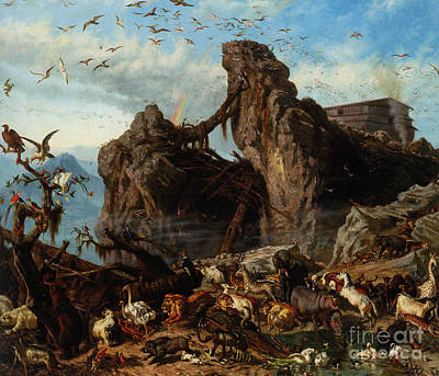 Noahs Ark Painting - After The Flood by Celestial Images
