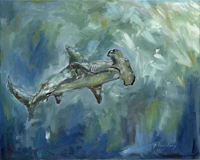 Scuba Painting - After The Hunt by Grant Lounsbury