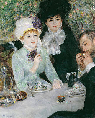 Pierre-auguste Renoir Painting - After The Luncheon by Pierre-Auguste Renoir