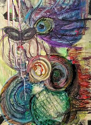 Abstract Painting - After The Party by Shelley Wheeler