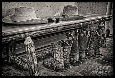 Cowboy Hat Photograph - After The Ride by Crystal Nederman