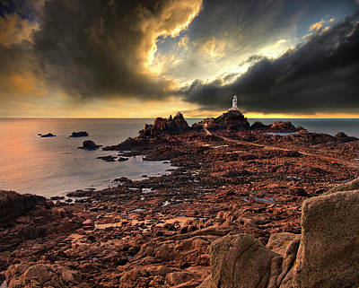 Channel Photograph - after the storm at La Corbiere by Meirion Matthias