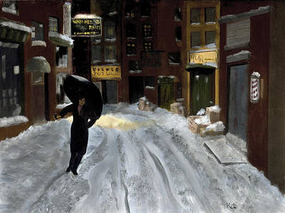 Menace Painting - After The Storm - Chinatown, Ny by Michael Kitei