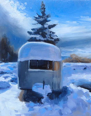 Snowscape Painting - After The Storm by Elizabeth Jose